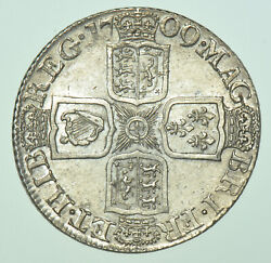 1709 Shilling Third Bust British Silver Coin From Anne Au