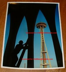 Seattle Worlds Fair 1961 Space Needle, Construction Photo 2 Orig By Gene Trindl