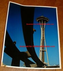 Seattle Worlds Fair 1961 Space Needle, Construction Photo 1 Orig By Gene Trindl