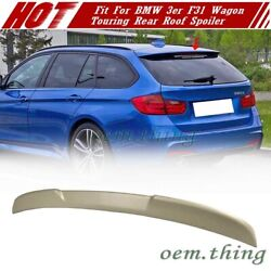 2012-18 Fit For Bmw 3er F31 5d Wagon Touring V Type Rear Roof Spoiler Unpainted