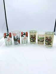 Kentucky Derby Churchill Downs Collectible Drinking Glasses Set Of 6