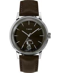 Timex Marlin Automatic xPeanuts Snoopy Beagle Scout 40mm Leather TW2U85600ZV