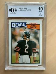 Doug Flutie 1987 Topps 45 Rc Beckett 10 Graded Next Best Thing To Ps10 Sold240
