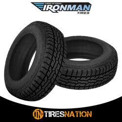 2 New Ironman All Country A/t 265/65/17 112t All Terrain Truck Suv Tire