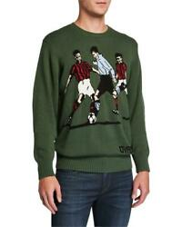 490 - Ovadia And Sons Betar Soccer Green Pullover Sweater Size Xl