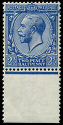 2½d Sg 372 Amazing 'inking-flaw' At Top Of U/m Marginal Copy. Striking And Unus