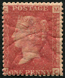 1d Sg 43, Pl.224 U/m, Fresh With Lovely Rich Colour Of This Difficult Plate.