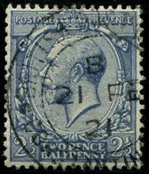 2½d Sg 372 Variety, 'pale Dull-blue' Vfu, 'br.p.o.constantinople.1921' Cds, Fre