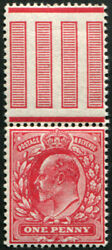 1d Sg 281 Variety, 'deep-carmine', U/m And Well Centred, Fine Colour Of This Sca