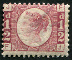 ½d Sg 48, Pl.1 U/m, Superb Fresh With Lovely Strong Rich Colour Of This Scarce