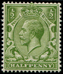 ½d Sg 354 Variety, 'bright Olive-green' U/m, Fab Colour Of This Scarcer Shade V