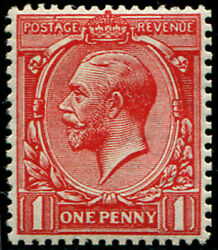 1d Sg 357 Variety, 'very Deep Brick-red' U/m, Fab Colour Of This Scarcer Shade