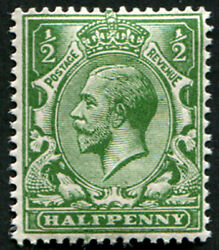 ½d Sg 354 Variety, 'very Deep Yellow-green' U/m, Amazing Colour Of This Scarce