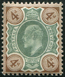 4d Sg 235 Variety, 'pale Green And Pale-brown' U/m, Pristine Fresh Of This Scarce