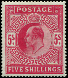 5/- Sg 3181 'carmine-red' Mint, Fine Fresh M/m, Lovely Colour Of This More Di