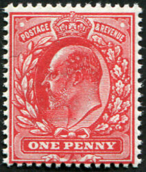 1d Sg 274 Variety, 'deep Carmine-red' U/m, Well Centred, Fab Colour Of This Sca