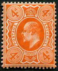 4d Sg 286 Variety And039intense-orangeand039 U/m Truly Stunning Colour Of This Rare Sha