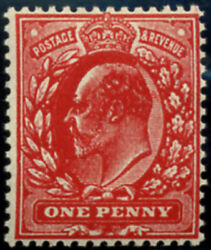 1d Sg 272a 'no Wmk' Variety, 'intense Brick-red' U/m, Amazing Colour Of This
