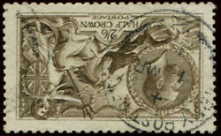2/6d Sg 408wi And039wmk.invand039 Sepia Seal Brown Vfu Perfectly Centred Crisp And039br.a