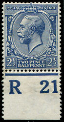 2andfrac12d Sg 373 Variety And039deep Dull Prussian-blueand039 U/m Control And039r21and039p Superb Fre