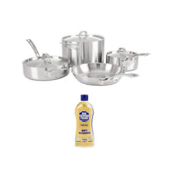 Viking Professional 5 Ply 7 Piece Cookware Set Satin Finish With Soft Cleanser