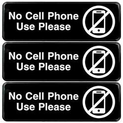 No Cell Phone Use Please Sign For Business Office Workplace Signage Gas Stati...