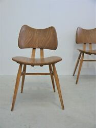 1956 Vintage Original Rare Set Four Lucian Ercolani Butterfly Chairs Mid Century