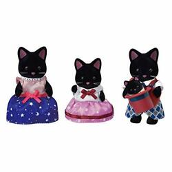 Calico Critters Midnight Cat Family Dolls Dollhouse Figures Collectible Toys ...