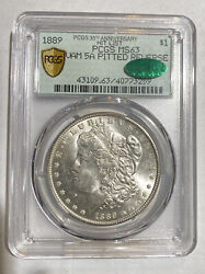 Morgan Silver Dollar 1889 P Pcgs Ms-63 Cac Vam 5a Pitted Reverse