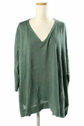 Secondhand Theory Lux Luxe Opus Lucy 18ss Sewn Knit Long Sleeve V-neck 38 Green