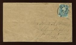 Confederate States 10 And039frame Linesand039 Used Stamp On Cover W/ Crowe Cert Csa10 A1