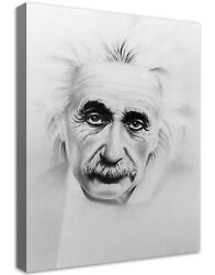 Albert Einstein Sketch Buildable Canvas Frame Canvas Picture Print Wall Art Home