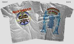 Hot Sale - Monsters Of Rock World Usa Tour Music Band T-shirt Cotton White Tee