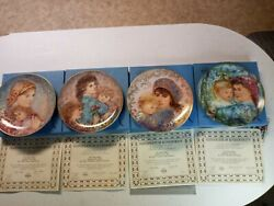 4 Knowles The Mothers Day Plates By Hibel Collector The Edna Excellent Coa