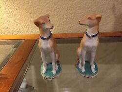 Antique Whippet Dog Figurines, Lot Of 2 150.00