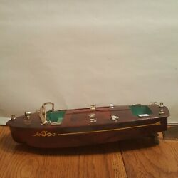 Vintage 1950's 60's Ideal Wind Up Toy Boat Look And Read