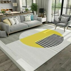 Nordic Brief Carpet Living Room Thick Woven Bedroom Carpet Modern Sofa Coffee