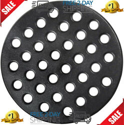 Round Cast Iron Grate, Bbq High Heat Charcoal Plate Fit Large Big Green Egg Fire