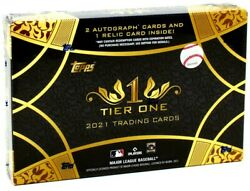 2021 Topps Tier One Baseball Hobby 12 Box Case Blowout Cards