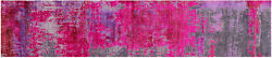 Runner Wool And Silk Modern Handmade Rug 2and039 6 X 12and039 0 - Q9083
