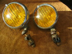 1930and039s -1940and039s Hudson Script Appleton Script Fog Lights With Brackets