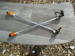1930's 12 Inch Lighted Two Tone Bakelite Amber And Black Fender Guides