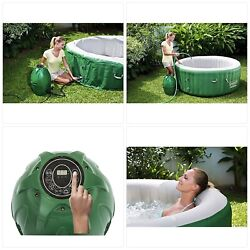 Coleman 54131e Saluspa Inflatable Hot Tub Spa Pack Of 1 Green And White