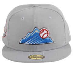 Colorado Rockies Mlb New Era Beer Pack 25th Anniversary Patch 59fifty 8 Gray