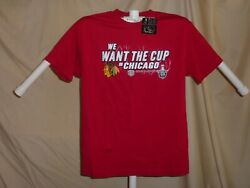 Chicago Blackhawks We Want The Cup In Chicago Stanley Cup T-shirt Medium Nwt