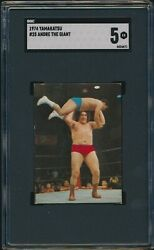 1974 Yamakatsu Andre The Giant Sgc 5 New Japan Pro Wrestling Rookie Rc 25 Card