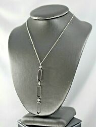 And Co 18k Gold Diamonds Dangling Ovals Link Necklace Pendant
