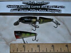 2 Creek Chub Plastic Ultralight Lures Jointed Pikie And Plunker S21-13