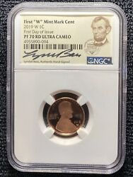 2019w Ngc Lyndall Bass-signed Pf70rd Ultra Cameo Lincoln Shield Cent Fdoi Pop500