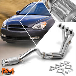 For 06-11 Accent Mc/rio5 1.6 Stainless Steel Performance Exhaust Header Manifold